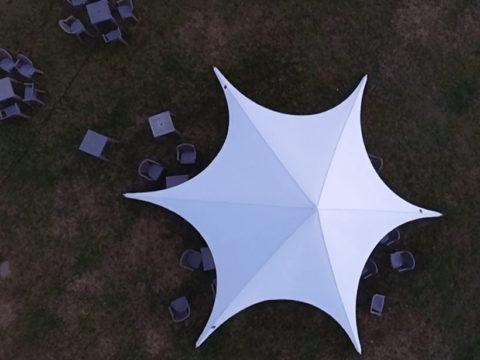 Star tent weeding