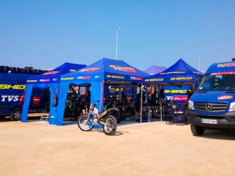 Tente paddock racing sherco Dakar