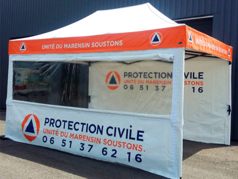tente pour la protection civile en pvc