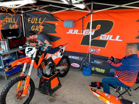 tente paddock motocross Julien Bill